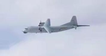 """解放军军机今天再入台湾西南空域,运-8反潜机是""""常客"""""""